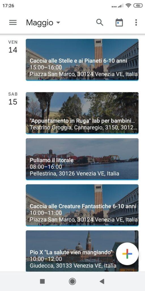 calendario eventi veneziadeibambini