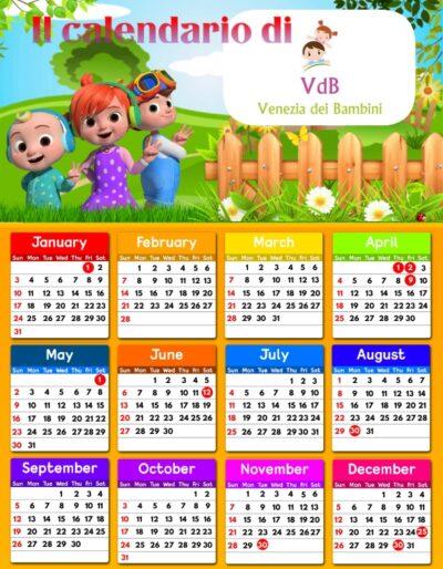 Calendario di VeneziadeiBambini